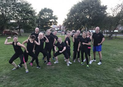 Cheshire boot camp team pose