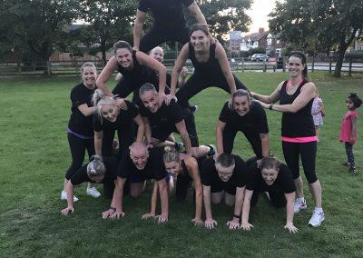Cheshire boot camp team
