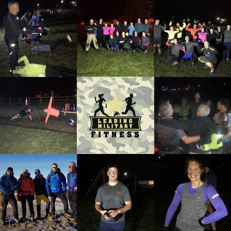 Participants at the Cheshire boot camp
